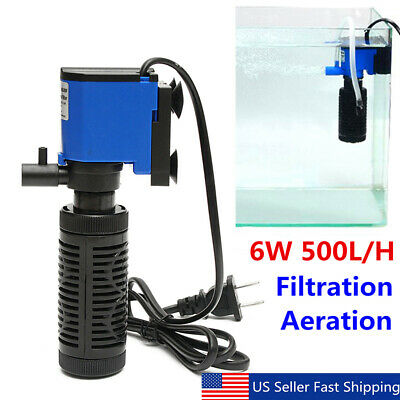 6W 220V 1000L/H Submersible Water Internal Filter Aquarium Fish Tank Pump Spray