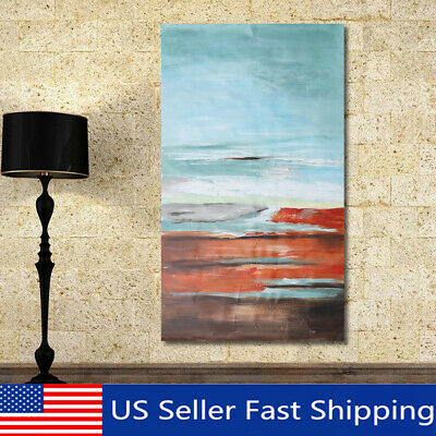 Abstract Seaside Canvas Oil Painting Hand-painted Home Wall Art Decor 120x60cm