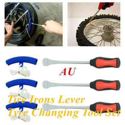 3 × Spoon Tire Irons Lever Tyre Changing Tool Set For Motorcycle Motorbike 29cm