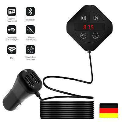 HOT Bluetooth FM Transmitter MP3 Player Auto USB Charger KFZ Freisprechanlage DE