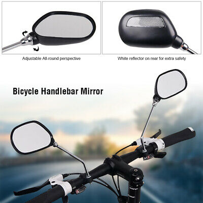 Newest 1Pair Bicycle Bike Cycling Handlebar Rear View Rearview Mirror Back View