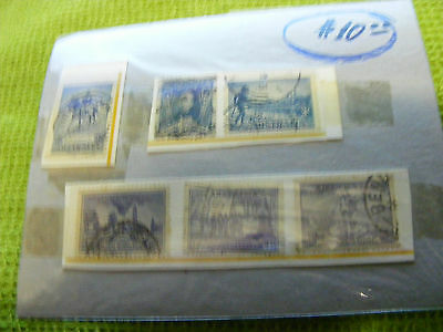 Lot  6 diff. Australia 3d. Blue 1930s stamps, used.