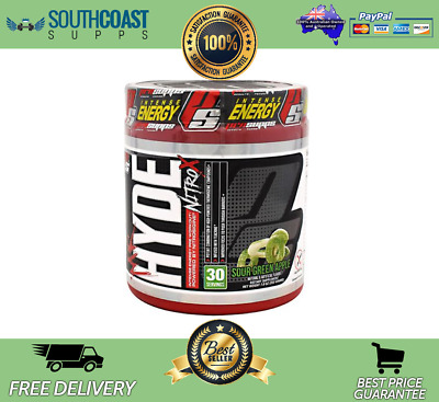 Pro Supps Mr Hyde Nitro X Sour Green Apple Flavour Pre-Workout Pump Energy Focus