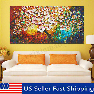 Abstract Modern Flower Tree Canvas Painting Print Picture Art Home Decor Unframe