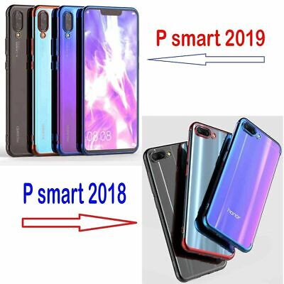 Luxury Shockproof Plating Clear Phone Case Cover for Huawei P smart 2019