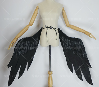 Overlord Albedo Cosplay Costume Black Wings Cos Prop Moldable Anime Wing