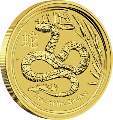 2013 Year of the Snake 1/10 oz .9999 Gold BU Coin Lunar Series II Perth Mint