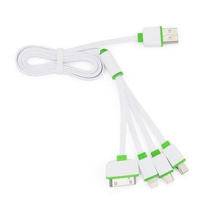 4 in 1 Multi Usb Charger Adapter Charging Cable Connectors 30P 8P mini &Micro FZ
