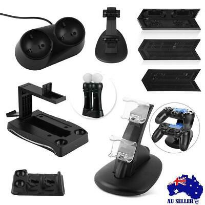 0USB Dual Controller LED Charging Dock Station Charger Stand For PlayStation PS4