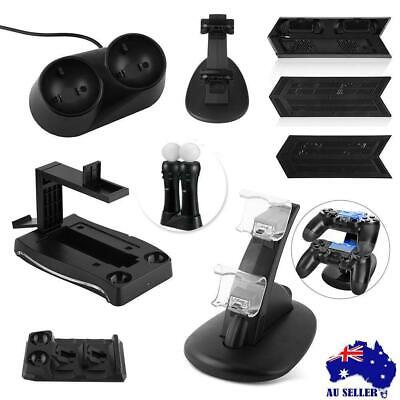 USB Dual Controller LED Charging Dock Station Charger Stand For PlayStation PS4