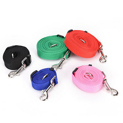 Durable Long Pet Dog Puppy Training Nylon Recall Lead Leash Traction Rope  TY