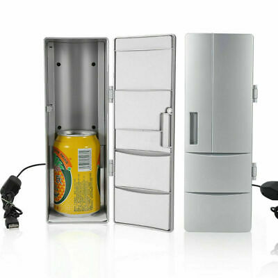 Portable USB Electric Mini Bar Fridge Home Office Refrigerator Cooler Freezer AU