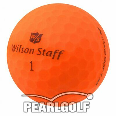 100 Wilson Staff Dx2 Soft Optix Golfbälle - Matt Orange - Pearlselection Wie Neu