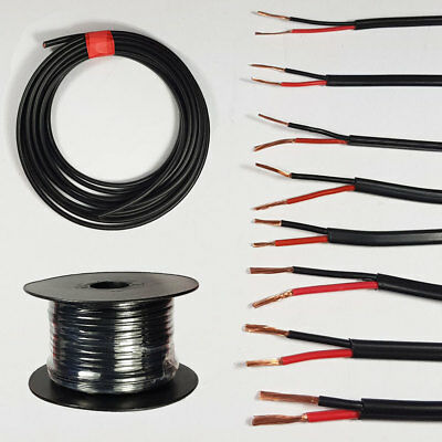 Automotive 12V 24V 2 Core Round Twin Thinwall Red/Black Auto Cable Wire Wiring