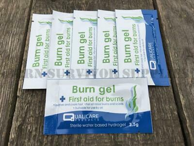 6 x BURN GEL BLOTS First Aid Kit Burns Scalds Bandage FFD FAK Trauma Camping Jel