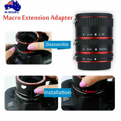 Macro Adapter Ring for Canon EOS EF Mount Camera Close-up Lens Extension Tube AU