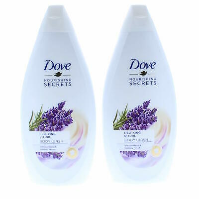 ** 2 X Dove Relaxing Ritual Body Wash 500Ml New ** Lavender Oil & Rosemary