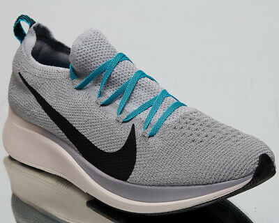 004e4752bec57 Nike Zoom Fly Flyknit Men s New Wolf Grey Black Blue Running Shoes AR4561 -004