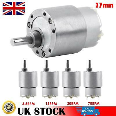 3.5/15/30/70RPM 37mm DC 12V High Torque Gear Box  Gear Electric Motor Reduction