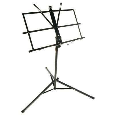 Adjustable Foldable Orchestra Conductor Sheet Music Book Stand Black