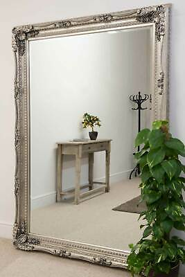 Large Wall Mirror Silver Antique Ornate 5Ft1 X 7Ft1 154cm X 215cm