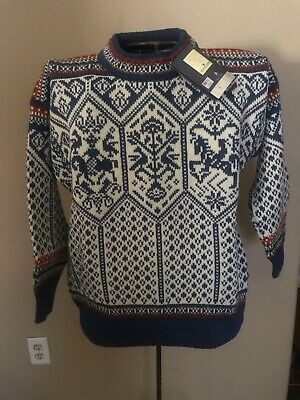 e353d6a89a3 Vintage Men s Dale Of Norway Sweater Top 100% Wool Size Med !New With Tag