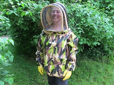 PREMIUM QUALITY Bee Smock, Fencing Veil Style - Camo. All Sizes