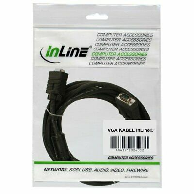 InLine S-VGA Cable 15-Pin HD MaleMale 15 m Black