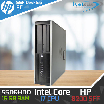 HP 8200 Tower Desktop PC Core i5 i7 4-16GB RAM HDD SSD Nvidia Graphics Win 10