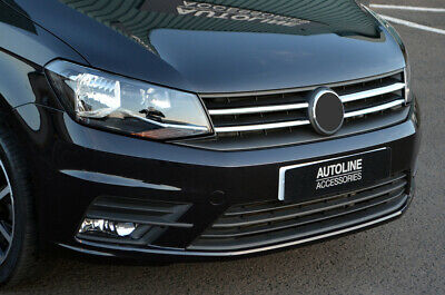Chrome Front Grille Accent Trim Set Covers To Fit Volkswagen Caddy (2016+)