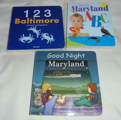 Set of 3 Maryland board books for toddlers