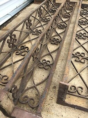 3pc Vtg Architectural Salvage Iron Corner Porch Posts Columns Antique Victorian