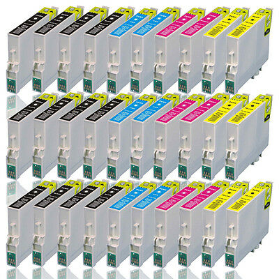 30x Druckerpatronen für EPSON Workforce WF-2510 2520 2530 2540 2630 2650 2010W