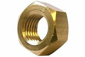 Metric Hexagonal Hex Full Nuts Brass Self Colour M5 5mm Pack of 100 nuts