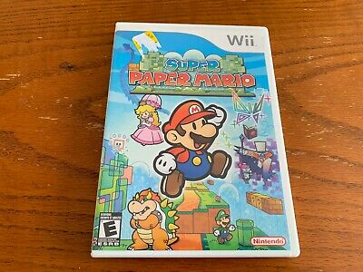 Super Paper Mario (Nintendo Wii, 2007) WITH INSTRUCTIONS
