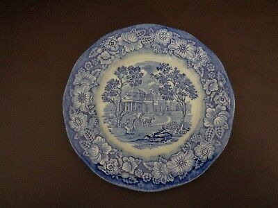 Liberty Blue Monticello Staffordshire Bread Plate (Cat.#8A038)