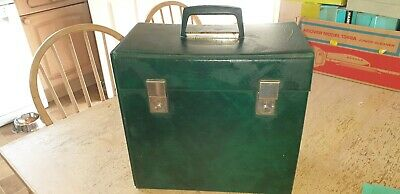 "Pair Of Vintage Large Deep & Slimline 1970'S Faux Leather 12"" Lp Record Case"