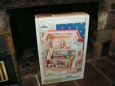 Kidkraft Chelsea Doll Cottage With Furniture Pink