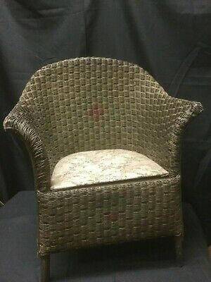 Vintage Brown/Burgandy Children's Wicker Rocking Chair,