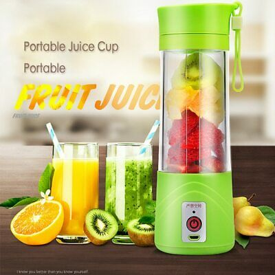 380ML Personal Portable Blender USB Rechargeable Juicer Cup Fruit Mixing Machine
