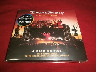 David Gilmour (Pink Floyd) 2008 Live In Gdansk 4 Disc Edition Come Nuovo