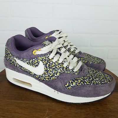 buy online e19a5 0ad23 Nike Women s 6 Liberty Of London Purple Floral Sneakers Air Max 1 528712-501