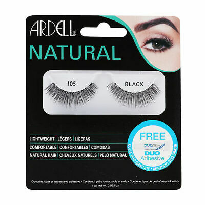 Ardell 100% Human Hair False Eyelashes Fashion/Natural Lashes/Adhesive 105