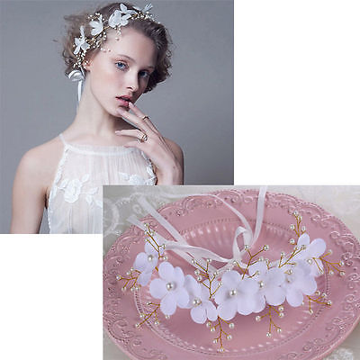 Floral Flower Garland Gold Bridal wedding Head Piece Hair Accessories  Bride