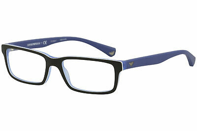 33f1e6e6ef0 Emporio Armani Eyeglasses EA3061 EA 3061 5392 Black Mt Blue Optical Frame  53mm