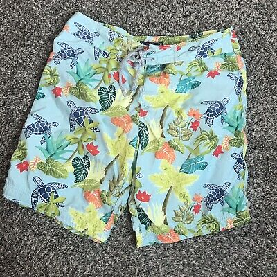 2bcf7d4656807 Men's Vilebrequin Turtle Hawaiian Floral Print Swim Trunks Shorts Size L  Large
