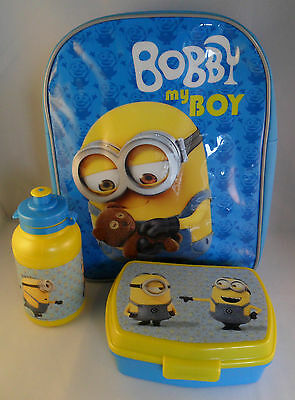 Despicable Me Minions Backpack Bag Lunch Box Drinks Bottle Gift School Holiday