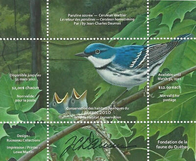 2010 Canada Quebec  Wildlife Habitat Conservation  -DQ62s    Mint NH