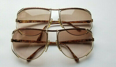 62bc389b9617 Lot Of Two Vintage Christian Dior 2609 48 Gold Brown Oversized Sunglass  Austria