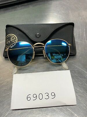 0fefdba2b2b Ray Ban RB3447 Round Metal Gold Frame  Green Classic Sunglasses